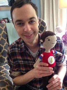 Bazinga! Sheldon with mini-Sheldon