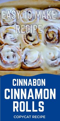 Easy Recipes with Confetti and Bliss Cinnabon Cinnamon Rolls, Cinnamon Bun Recipe, Best Cinnamon Rolls, Homemade Cinnamon Rolls, Cinnamon Roll Icing, Homemade Breads, Copycat Cinnabon Recipe, Copycat Recipes, Breakfast