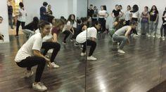 Trabajando los primeros movimientos de nueva coreo en Hip Hop