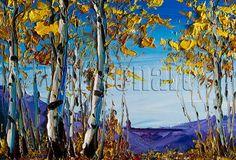 Original Autumn Birch Forest Landscape Painting Oil by willsonart