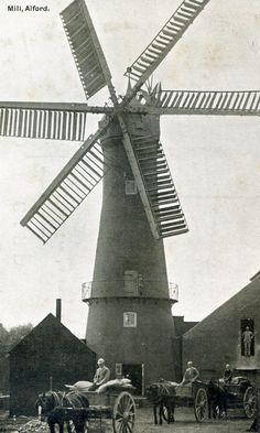 Lincolnshire postcard Alford Windmill Alford | eBay