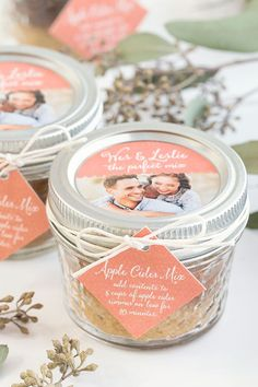 Apple cider mix favors, wedding favors, diy favor, fall weddings, fall wedding…