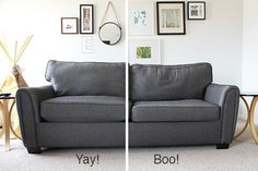Put the life back in your sad sofa. How to re-stuff your couch to get it feeling comfortable again!