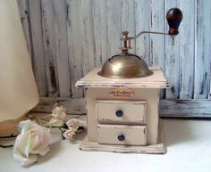 Vintage Coffee Grinder Hand Painted Coffee by WillowsEndCottage, $62.00
