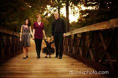 family pictures, 6 month pictures, the bridge, family photos, famili pictur, photography poses, photo idea, famili photo, holding hands