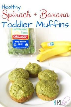 Healthy Spinach Banana Toddler Muffins Recipe #healthyrecipe #toddlerrecipe http://thetribemagazine.com/spinach-banana-healthy-breakfast-muffins-recipe-for-toddlers/ #toddlermuffins