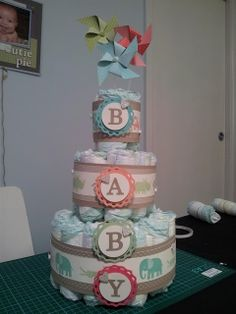 www.chloscraftcloset.blogspot.com.au - Nappy Cakes and Baby Showers