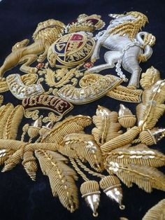 "holdhard: ""Ceremonial embroidery by Hand & Lock "" Gold Embroidery, Embroidery Designs, Couture Embroidery, Textiles, King And Country, Gold Work, Embroidery Techniques, Needlepoint, Needlework"