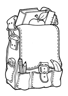 Back To School Coloring Pages 8 - Free Printable Coloring Pages… Kindergarten Coloring Pages, Sunday School Coloring Pages, Kindergarten Colors, Free Printable Coloring Pages, Coloring For Kids, Coloring Pages For Kids, Coloring Books, Back To School Videos, Back To School Backpacks