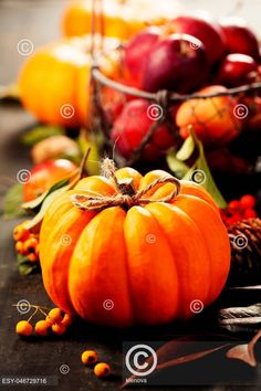 Pumpkin and apples Apples, Sweet Home, Pumpkin, Vegetables, Food, Decor, Decoration, House Beautiful, Pumpkins