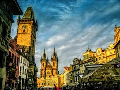 Prague At Sunset by Alistair Ford on Travel Images, Prague, Big Ben, Travel Guide, Ford, Sunset, City, Building, Buildings