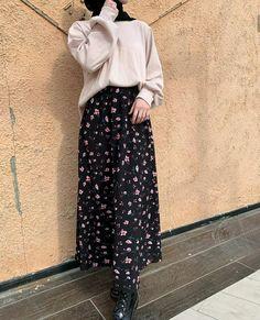Long Skirt Fashion, Modest Fashion Hijab, Casual Hijab Outfit, Muslim Fashion, Fashion Outfits, Mode Abaya, Hijab Style, Hijab Fashion Inspiration, Pretty Outfits