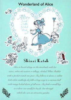 cute wonderland of Alice fairy tale postcard 1