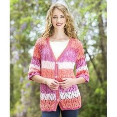 Adventures in Lace Knit Cardigan | AllFreeKnitting.com