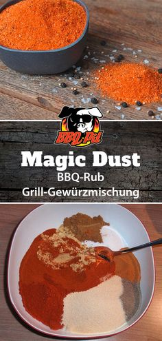 It& that easy to mix your own Magic Dust, the best known and most popular . - It& that easy to mix your own Magic Dust, the best known and most popular BBQ Rub in the worl - Rub Recipes, Smoker Recipes, Grilling Recipes, Cooking Recipes, Cooking Food, Food Food, Chicken Recipes, Smoker Cooking, Cooking On The Grill