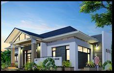 Công ty xây dựng Thanh Niên giới thiệuMẫu thiết kế biệt thự vườn 1 tầng 150m2 kiểu dáng đơn giản. Theo xu hướng gia tăng hiện nay thì nhiề... Modern House Plans, Modern Houses, Small House Design, Simple House, House Painting, Exterior Design, Mansions, Architecture, House Styles