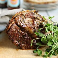 Mustard and Herb Crusted Lamb with Yogurt Sauce by Anita Schecter