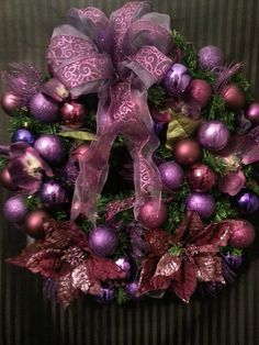 Beautiful Violet Christmas Wreath by MrHills on Etsy, £55.00