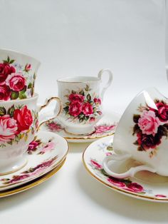 Vintage High Tea Set Romantic Summer Rose