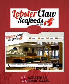 Lobster Claw Seafoods - Lobster is the new Comic Sans #lobsteristhenewcomicsans
