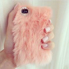 Fuzzy phone case
