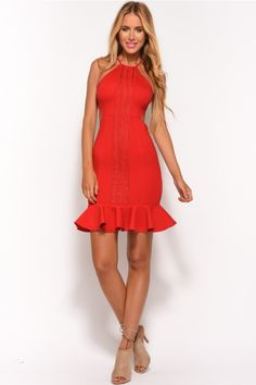 708942df916 Hands On You Midi Dress Red Red Midi Dress