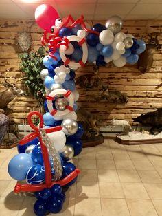 Baby Shower Balloons, Birthday Balloons, Baby Shower Themes, Baby Boy Shower, 40th Birthday Celebration Ideas, Birthday Party Decorations, Balloon Garland, Balloon Decorations, Nautical Birthday Cakes