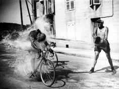 Tour de France 28 juni 1947- I love to ride through sprinklers, or be hosed on a long ride.