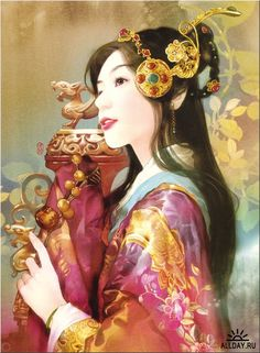 Der Jen. Illustration Collection of the Ancient Chinese People - The Zephyr-Love Stories of the Royal Manchu in the Forbidden City.