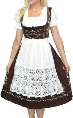 Dirndl Trachten Haus 3-Piece Long German Wear Party Oktoberfest Waitress Dress 14 44 Brown Dirndl Trachten Haus,http://www.amazon.com/dp/B00BNI0KDA/ref=cm_sw_r_pi_dp_8jkltb0SB5MR280Q