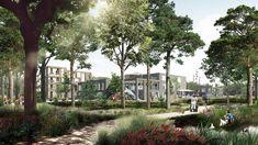 Krebsestien Nursing Home and Community Centre in Esbjerg, Denmark, by C. Internal Courtyard, Residential Complex, The Locals, Denmark, Landscape Design, Architecture Design, Health Care, New Homes, Landscape Designs