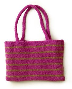 Free Knitting Pattern - Bags, Purses & Totes: Stripey Strap Bag