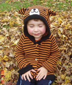 Organic Cotton Tiger Sweater for Kids Animal Sweater, Hand Knitted Sweaters, Sweater Making, Pet Clothes, Knits, Hand Knitting, Riding Helmets, Organic Cotton, Hipster