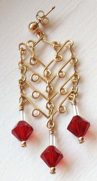 Abacus Jewelry Wire and Beads Earrings made with common jewelry ...