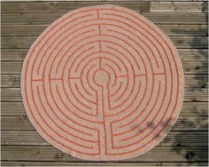 Crocheted Chartres Labyrinth