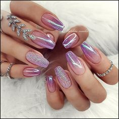 Simple Nail Art Designs That You Can Do Yourself – Your Beautiful Nails Cute Summer Nail Designs, Cute Summer Nails, Cute Nails, Pretty Nails, Nail Polish, Shellac Nails, My Nails, Glitter Nails, Acrylic Nails For Summer Glitter