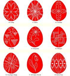 Easter egg motifs from Hungary