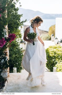A destination wedding, filled with tradition and love, at their family's house in Greece. Greek Islands, Wedding Photography, Photography Ideas, Casual Wedding, Homecoming, Destination Wedding, Celebration, Wedding Inspiration, Flower Girl Dresses