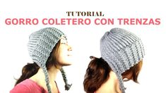 Knitting Patterns Beanie How to Loom Knit a Ponytail Beanie with Braids (DIY Tutorial) Loom Knitting Patterns, Knitting Videos, Crochet Videos, Knitting Stitches, Knitting Yarn, Knitting Tutorials, Loom Hats, Loom Knit Hat, Knitted Hats