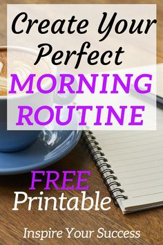 This morning routine has saved me! I am so much more productive and ready for work now that I have this in my life. I love the free morning routine checklist it's so easy to follow. Glad I started!