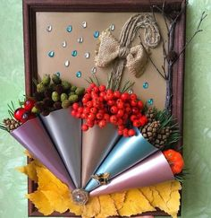 Spring Crafts For Kids, Autumn Crafts, Craft Projects For Kids, Kids Crafts, Art For Kids, Arts And Crafts, Diy Home Crafts, Creative Crafts, Autumn Decorating