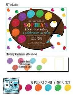 Art Party Invitation | Marie Thomas Designs