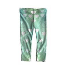 Mimi's Cool Mint Leggings with love hearts for all. by MimiAndBeetle on Etsy