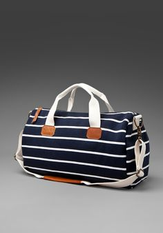 3620908ede BRANDY MELVILLE Add To Boutique Striped Duffle in Navy White Cute Bags