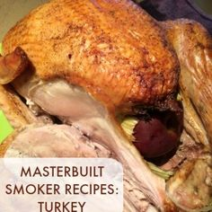 Perfectly Smoked Turkey + Meal Planning Tips for Thanksgiving - Looking for Masterbuilt smoker recipes? You're in the right place! This Masterbuilt smoked turkey - Smoked Meat Recipes, Turkey Recipes, Grilling Recipes, Pork Recipes, Oven Recipes, Easy Recipes, Copycat Recipes, Masterbuilt Recipes, Gastronomia
