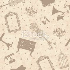 antique furniture Royalty Free Stock Vector Art Illustration