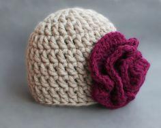 Crochet Newborn Flower Hat