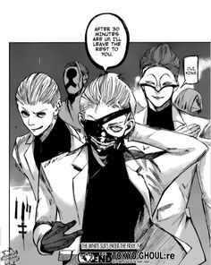 Badass Kaneki Ken and the white suits. You're so f***ed!