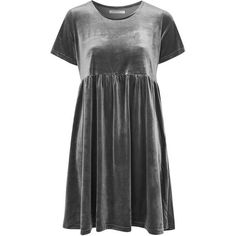 Velvet Short Sleeve Dress by Glamorous Tall (93 BRL) via Polyvore featuring dresses, baby doll dress, velvet babydoll dress, short-sleeve dresses, doll dress e babydoll dress