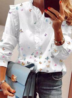 Floryday - Las Mejores Ofertas en Venta En Línea de Lo Último en Moda para Mujeres 60 Fashion, Latest Fashion For Women, Fashion Outfits, Fashion Online, Indian Designer Outfits, Blouse Styles, Blouses For Women, Cool Outfits, Clothes
